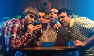 Scene from The Inbetweeners Movie.