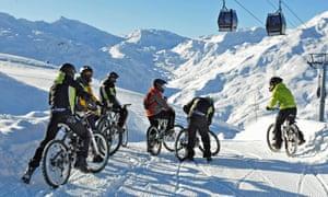 Les Menuires ski resort, France