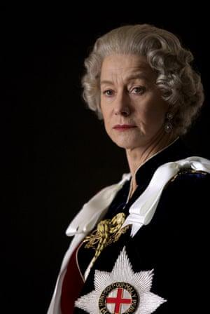 Mirren as Queen Elizabeth in The Queen.