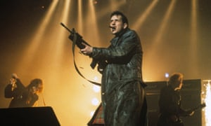 1991's biggest-selling singles act … the KLF perform at the 1992 Brit awards.