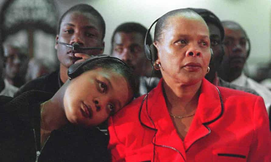 Limpho Hani, right, and her daughter Nomakhwezi Hani, who witnessed her father's murder.