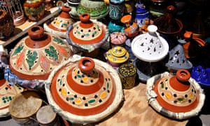 Get it while it's hot: terracotta tagines for sale in the medina.