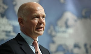William Hague speaking at Chatham House this afternoon.