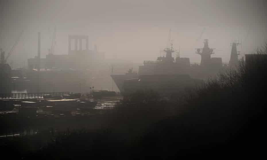 Devonport Royal Navy Dockyard in Plymouth.