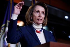 Nancy Pelosi reportedly told House Democratic colleagues that the border wall was 'like a manhood thing for him'.