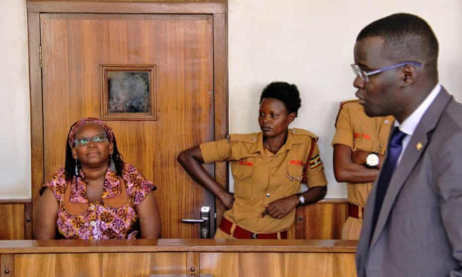 Stella Nyanzi in court in April 2017