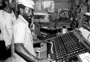 Lee 'Scratch' Perry at his Black Ark studio in Kingston in the 1970s.