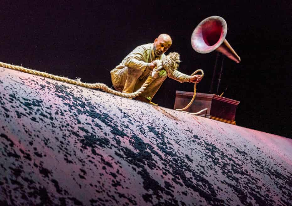 Riveting … Akram Khan as a shell-shocked soldier in Xenos.