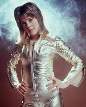 Suzi Quatro's 1974 catsuit look