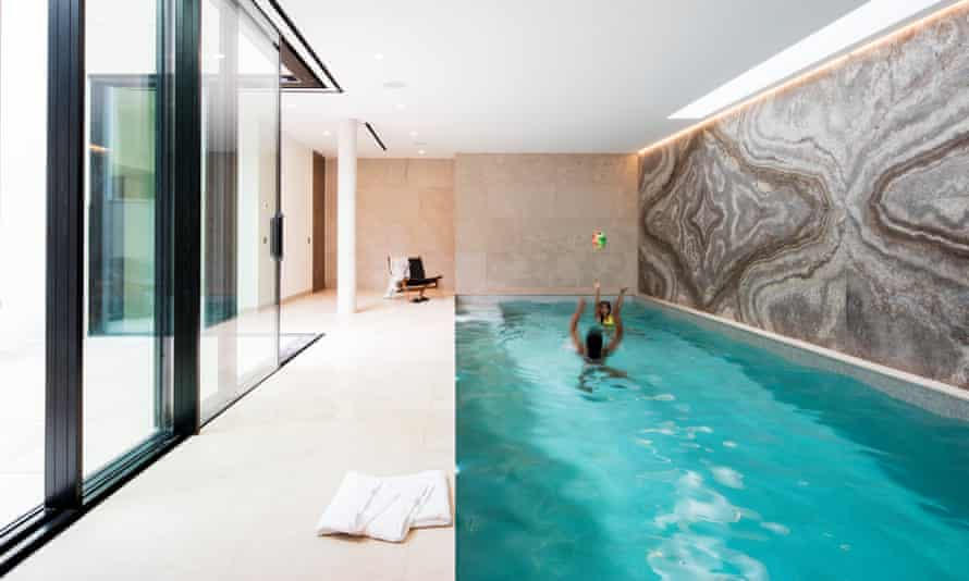 Swimming in style: the pool that opens out to the courtyard.