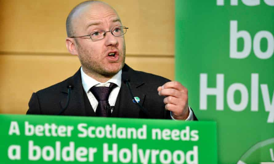 Scottish Greens co-convenor Patrick Harvie launches the party's manifesto in Edinburgh