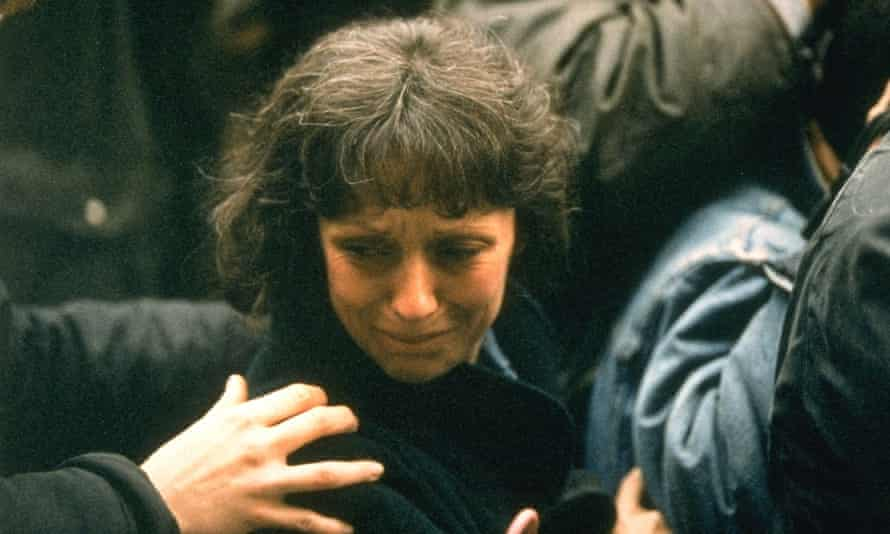 Christine Villemin arrives at prison in Dijon.