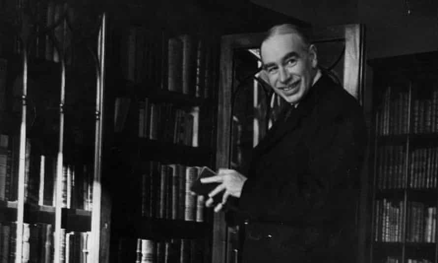 john maynard keynes in his library in 1940