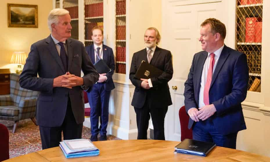 Barnier and Frost in 10 Downing Street, 7 July