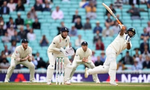 Rishabh Pant swings one handed for a six