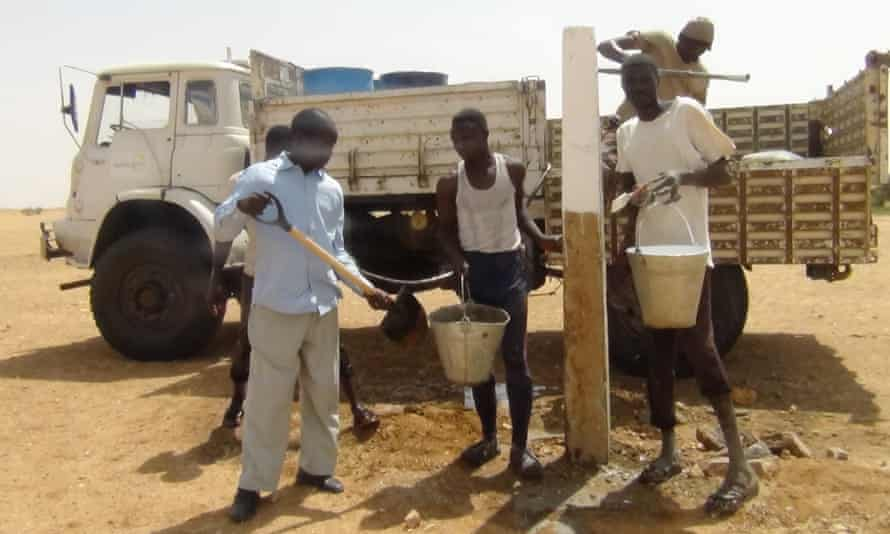 Installing and painting concrete post for pastoralist
