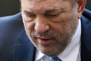 Film producer Harvey Weinstein arrives at the New York Criminal Court during his ongoing sexual assault trial in New York on February 24, 2020.