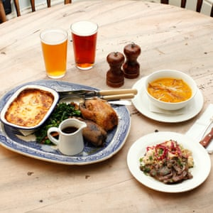 Observer Food Monthly OFM lunch with... Grayson Perry at the Drapers Arms, islington N1 1ER