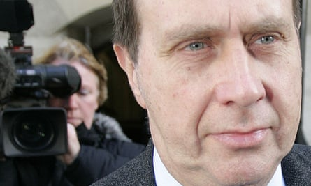 Clive Goodman, royal correspondent of the News of the World, leaves the Old Bailey in 2006.
