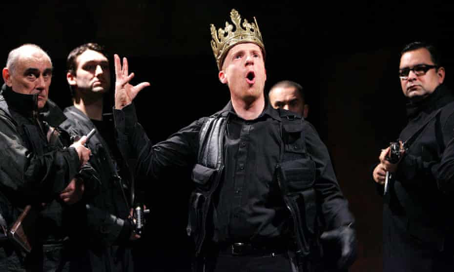 Jonathan Slinger in Richard III by the Royal Shakespeare Company at the Roundhouse, London, in 2008.