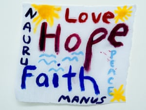 'Love Hope Faith': a message from from Nauru