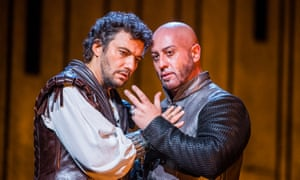 Jonas Kaufmann as Otello and Marco Vratogna as Iago.