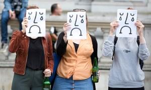 EU referendum Anti-Brexit protesters