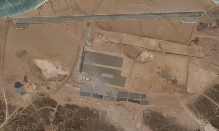 A satellite image from 11 April showing the airbase.
