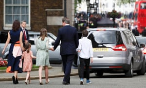 David Cameron and family leaving Downing Street for the last time this week