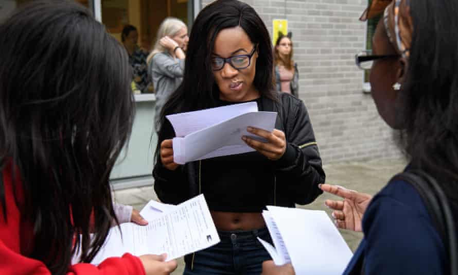 Students receive their A Level Results