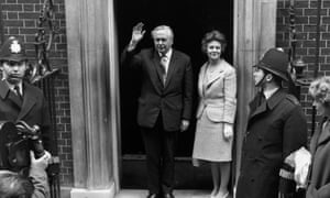 Harold Wilson on the steps of No 10 in April 1966.
