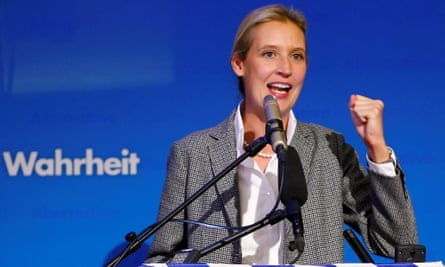 Alice Weidel of the anti-immigration party Alternative for Deutschland