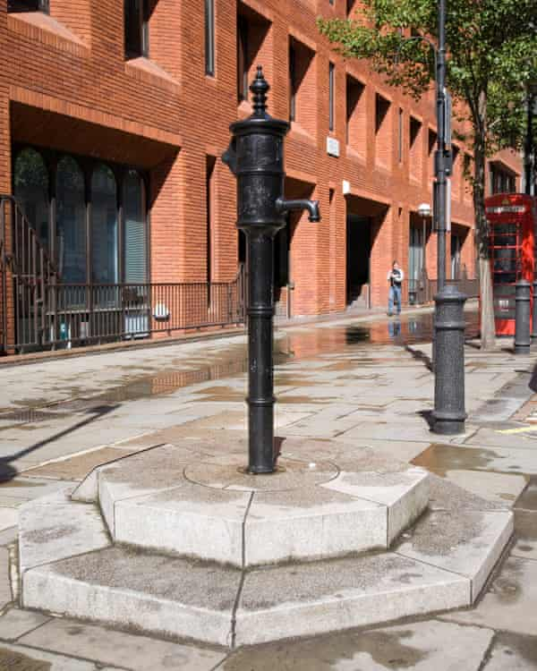 A replica of the Soho water pump identified as the source of a cholera outbreak by John Snow in 1854.