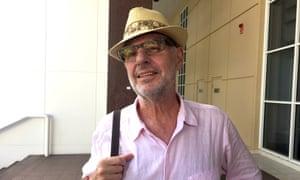 Philip Nitschke arrives at the Darwin Supreme Court