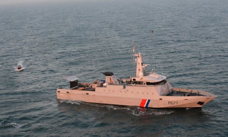 A French patrol boat in the Channel.