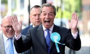 Brexit party leader Nigel Farage.