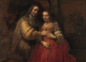 Strokes of genius: 'The Jewish Bride, painted by Rembrandt between 1665 and 1669.