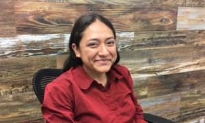Karina Ruiz de Diaz, president of the Arizona Dream Act Coalition, at her office in Phoenix.