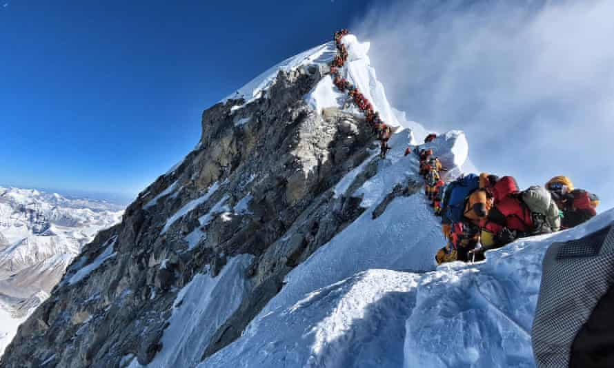 Heavy climber traffic on Mount Everest have led to exhaustion and tiredness, sometimes resulting in death.