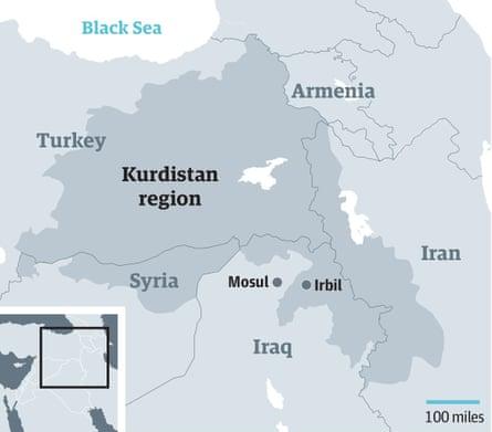 Map of Kurdistan region