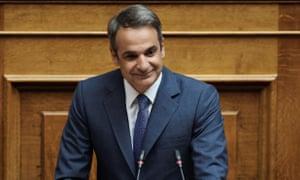 The Greek prime minister, Kyriakos Mitsotakis