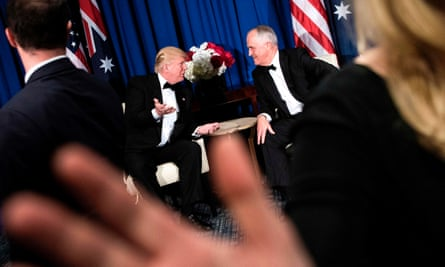 Donald Trump and Malcolm Turnbull meet onboard the USS Intrepid