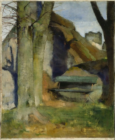 Helene Schjerfbeck, Shadow on the Wall (Breton Landscape), 1883. Oil on canvas mounted on wood, 45 x 38 cm. Niemistö Collection; photo: Finnish National Gallery / Hannu Aaltonen