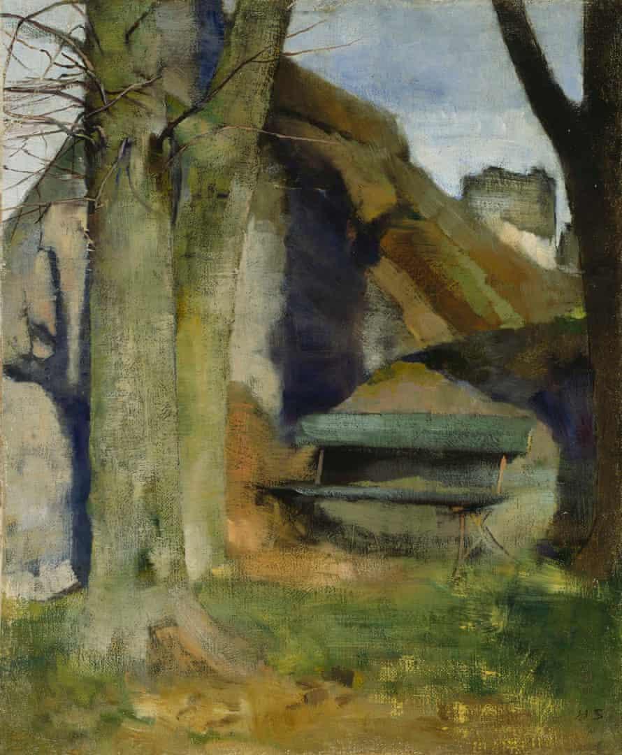 Helene Schjerfbeck, Shadow on the Wall (Breton Landscape), 1883.