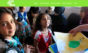 Screengrab from a Help for Syria video. The Home Office said it was a campaign website created for a number of charities.