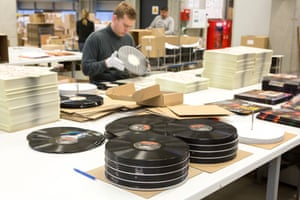 A vinyl pressing factory in Germany.