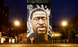 New George Floyd mural in Manchester England
