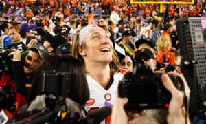 Trevor Lawrence soaks Clemson's victory over Alabama on Monday night