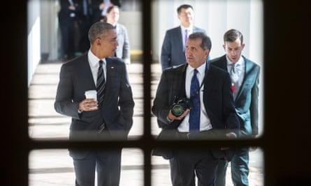 President Barack Obama and Pete Souza in 2016