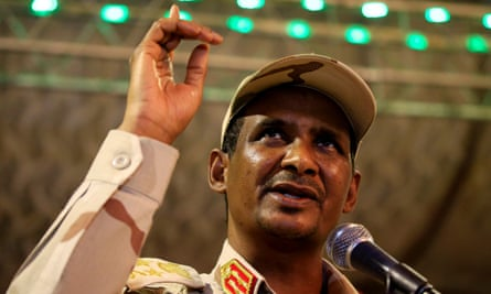 Mohammed Hamdan Dagalo, known as Hemedti, in Khartoum this month.
